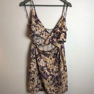 Free People Floral Crisscross Swing Dress